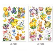 AS-7026AB, 7027AB, 7028AB (Easter) Art Paper Sticker Series
