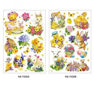 AS-7032AB, 7033AB, 7034AB (Easter) Art Paper Sticker Series
