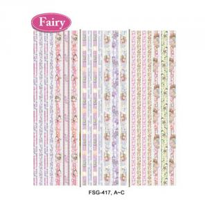 (Fairy) Glitter & Satin Ribbon Sticker Series